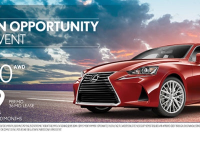 Lexus IS300 web banner advertisement
