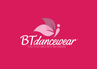 BT Dancewear logo design