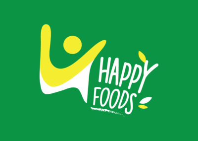 Happy Foods logo design
