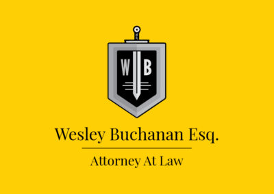 Wesley Buchanan Esq Attorney at Law logo design